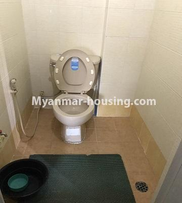 Myanmar real estate - for rent property - No.4893 - Second Floor 2 BHK Apartment Room for rent in Yakin! - toilet view