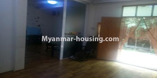 Myanmar real estate - for rent property - No.4896 - Landed house for rent in Parami Yeik Thar, Yankin! - main entrace view