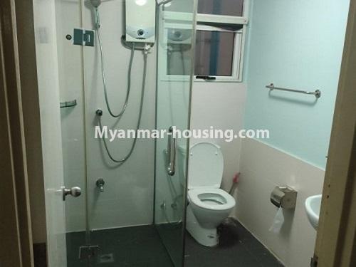မြန်မာအိမ်ခြံမြေ - ငှားရန် property - No.4911 - သန်လျင် သီလဝါစက်မှုဇုံအနီး Star City Condo တွင် အိပ်ခန်း တစ်ခန်း ပါသည့် အခန်းကောင်း ငှားရန်ရှိသည်။another bathroom view
