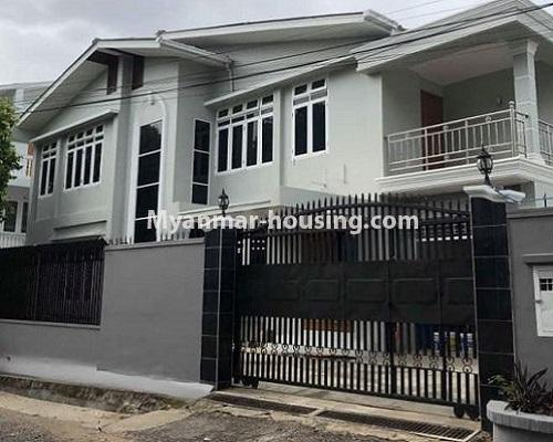 Myanmar real estate - for rent property - No.4913 - 6BHK Two RC Landed House for Rent near Kabaraye Pagoda Road, Bahan! - house view