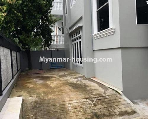 Myanmar real estate - for rent property - No.4913 - 6BHK Two RC Landed House for Rent near Kabaraye Pagoda Road, Bahan! - extra space view of right side