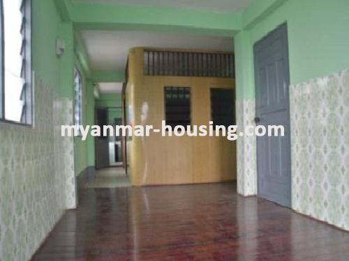 Myanmar real estate - for sale property - No.1235 - Apartment for sale in near downtown! - View of the inside.