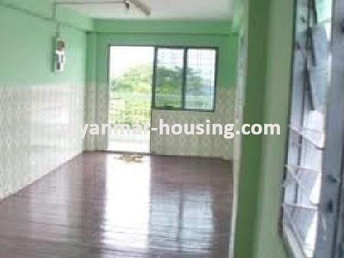 Myanmar real estate - for sale property - No.1235 - Apartment for sale in near downtown! - View of the living room.