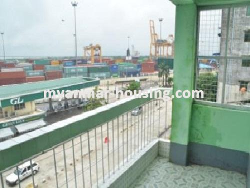 Myanmar real estate - for sale property - No.1235 - Apartment for sale in near downtown! - View of the environment.