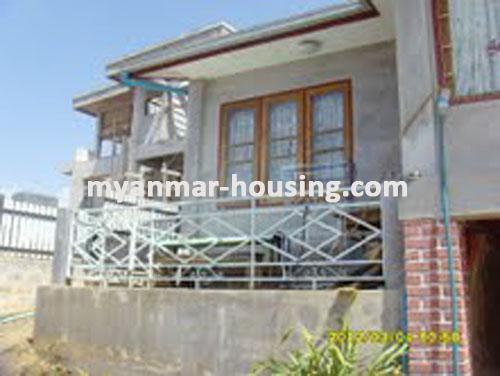 Myanmar real estate - for sale property - No.1406 - Do you want a landed house with a big yard in Taunggyi? - view of the house.
