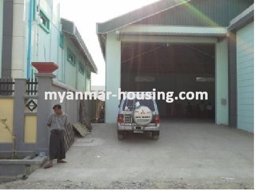 Myanmar real estate - for sale property - No.2804 - Spacious warehouse for sale in third city! - Front view of the building.