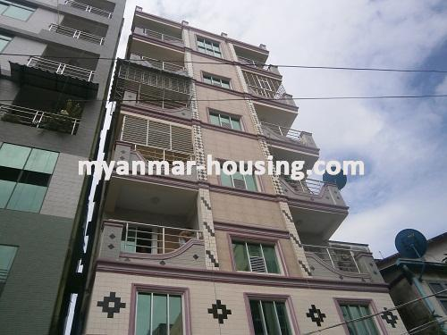 ミャンマー不動産 - 売り物件 - No.2810 - Apartment for sale in Kyeemyindaing. - Front view of the building.