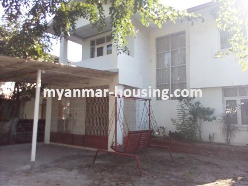 မြန်မာအိမ်ခြံမြေ - ရောင်းမည် property - No.3014 - လှိုင်သာယာမြို့နယ်တွင် လုံးချင်းအိမ်ကောင်း တစ်လုံး ရောင်းရန်ရှိပါသည်။ - View of the Building