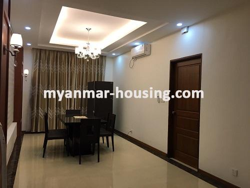 Myanmar real estate - for sale property - No.3025 - Three storey Landed House for sale in Hlaing Township. - View of Dining room
