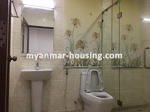 Myanmar real estate - for sale property - No.3025 - Three storey Landed House for sale in Hlaing Township. - View of Toilet and Bathroom