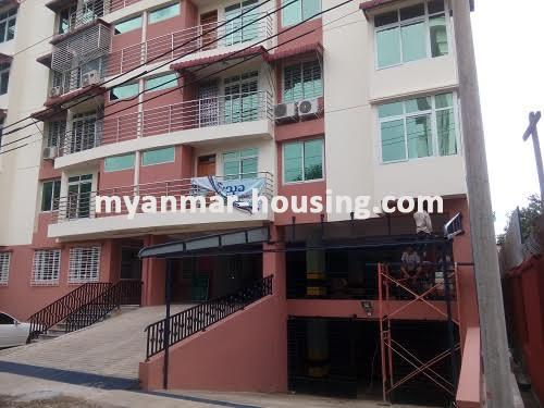 Myanmar real estate - for sale property - No.3050 - New Condo room for sale in Yankin! - buildig view