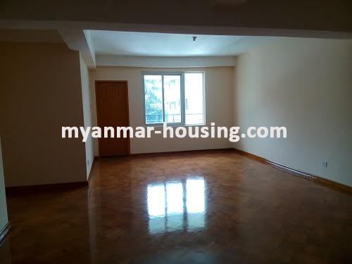 Myanmar real estate - for sale property - No.3050 - New Condo room for sale in Yankin! - living room view