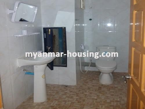 Myanmar real estate - for sale property - No.3050 - New Condo room for sale in Yankin! - bathroom view