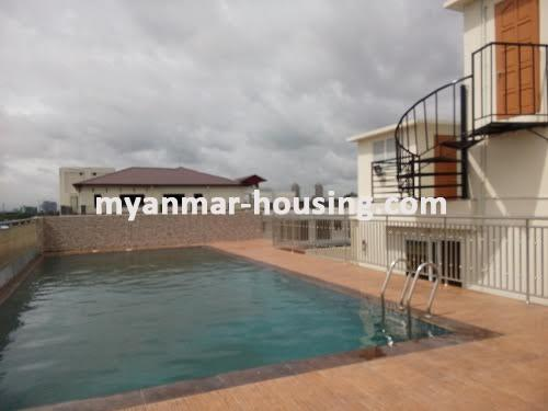 Myanmar real estate - for sale property - No.3050 - New Condo room for sale in Yankin! - swimming pool view