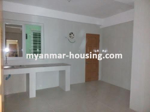Myanmar real estate - for sale property - No.3050 - New Condo room for sale in Yankin! - kitchen view