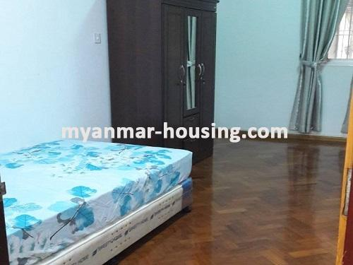 Myanmar real estate - for sale property - No.3092 - A wide space Condo room for sale in Yaw Min Gyi Condo  - View of the Bed room