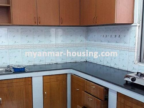 Myanmar real estate - for sale property - No.3092 - A wide space Condo room for sale in Yaw Min Gyi Condo  - View of Kitchen room