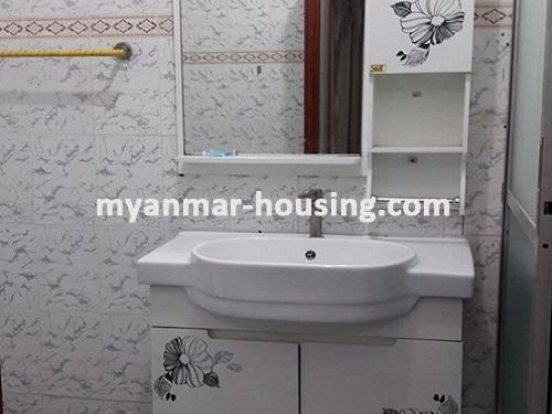 Myanmar real estate - for sale property - No.3092 - A wide space Condo room for sale in Yaw Min Gyi Condo  - View of the Toilet and Bathroom