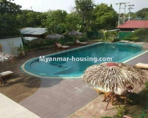 Myanmar real estate - for sale property - No.3110 - Three Storey Landed House for sale in Bagan City. - Swimming pool view