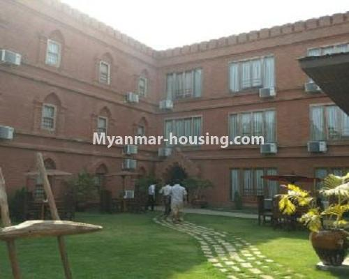 Myanmar real estate - for sale property - No.3110 - Three Storey Landed House for sale in Bagan City. - building view