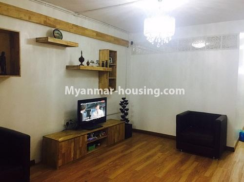 Myanmar real estate - for sale property - No.3116 - An apartment for sale in Pazundaung! - living room