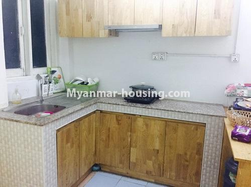 Myanmar real estate - for sale property - No.3116 - An apartment for sale in Pazundaung! - kitchen