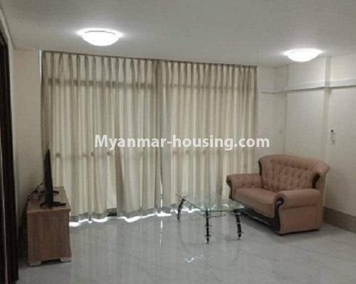 ミャンマー不動産 - 売り物件 - No.3119 - Nice condo room with two bedrooms for sale in Malikha Condo! - living room