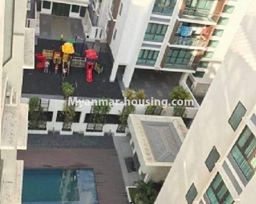 ミャンマー不動産 - 売り物件 - No.3119 - Nice condo room with two bedrooms for sale in Malikha Condo! - outside view