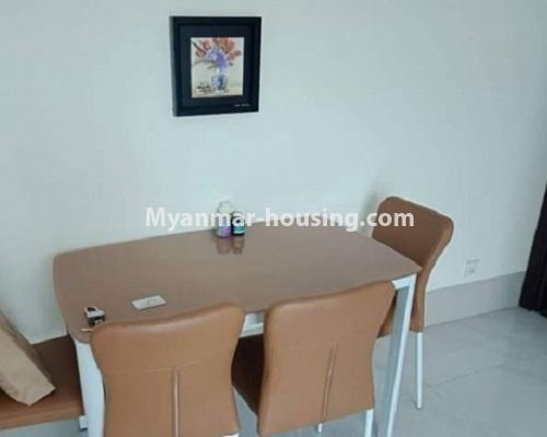 ミャンマー不動産 - 売り物件 - No.3119 - Nice condo room with two bedrooms for sale in Malikha Condo! - dining area