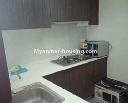 ミャンマー不動産 - 売り物件 - No.3119 - Nice condo room with two bedrooms for sale in Malikha Condo! - kitchen