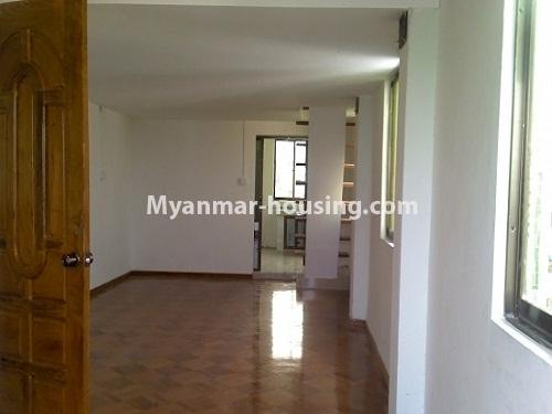 Myanmar real estate - for sale property - No.3120 - An apartment for sale in Sanchaung Township. - View of the Living room