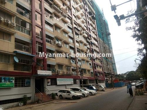 Myanmar real estate - for sale property - No.3142 - Condo room for sale in Botahtaung! - building view