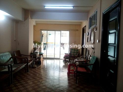 Myanmar real estate - for sale property - No.3142 - Condo room for sale in Botahtaung! - living room