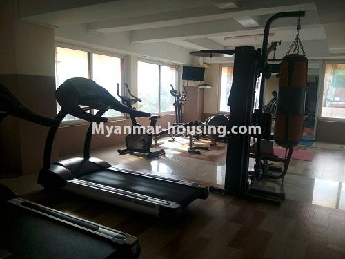 Myanmar real estate - for sale property - No.3142 - Condo room for sale in Botahtaung! - gym