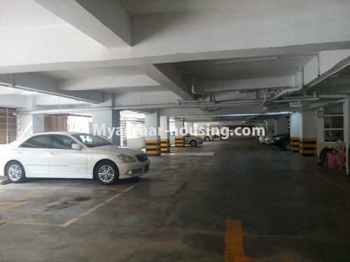 Myanmar real estate - for sale property - No.3142 - Condo room for sale in Botahtaung! - car parking