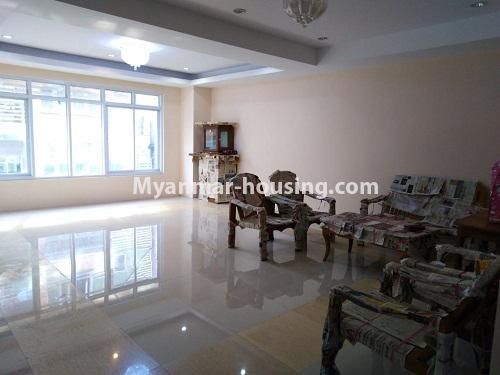Myanmar real estate - for sale property - No.3154 - New condo room for sale in Pazundaung! - living room