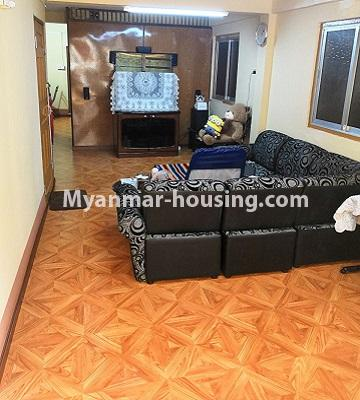 Myanmar real estate - for sale property - No.3179 - Apartment for sale in Sanchaung! - living room