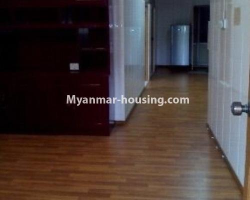 Myanmar real estate - for sale property - No.3208 - Lower floor apartment for sale in Hlaing! - living room area and corridor