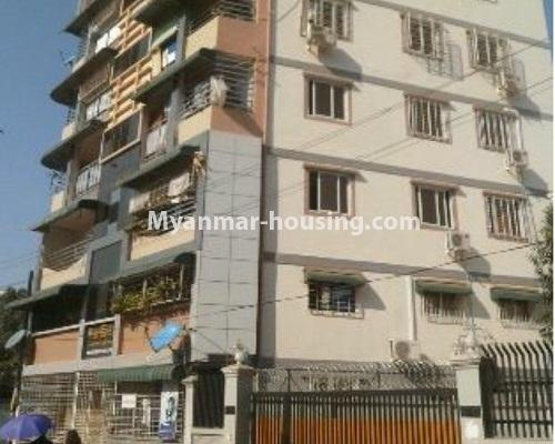 Myanmar real estate - for sale property - No.3208 - Lower floor apartment for sale in Hlaing! - building view