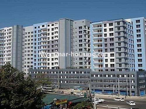 Myanmar real estate - for sale property - No.3233 - Shwe Moe Kaung condominium room for sale in Yankin! - building view