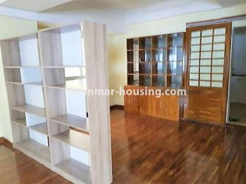 Myanmar real estate - for sale property - No.3233 - Shwe Moe Kaung condominium room for sale in Yankin! - another view of living room