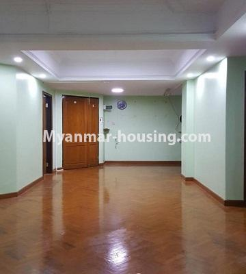 Myanmar real estate - for sale property - No.3242 - Taw Win Thiri Condo room for sale in 9 Mile, Mayangone! - living room area