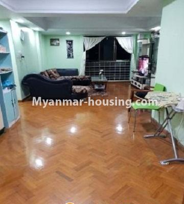 Myanmar real estate - for sale property - No.3242 - Taw Win Thiri Condo room for sale in 9 Mile, Mayangone! - another view of living room