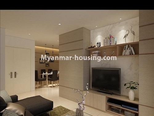 ミャンマー不動産 - 売り物件 - No.3253 - Condominium room for sale, 7  Mile, Mayangone Township - anothr view of living room