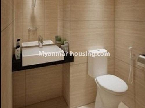 ミャンマー不動産 - 売り物件 - No.3253 - Condominium room for sale, 7  Mile, Mayangone Township - bathroom