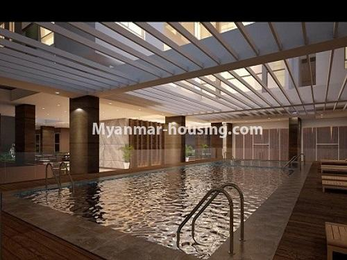 ミャンマー不動産 - 売り物件 - No.3253 - Condominium room for sale, 7  Mile, Mayangone Township - swimming pool