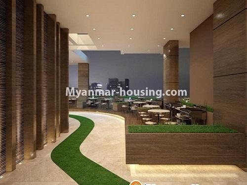 ミャンマー不動産 - 売り物件 - No.3253 - Condominium room for sale, 7  Mile, Mayangone Township - hallway
