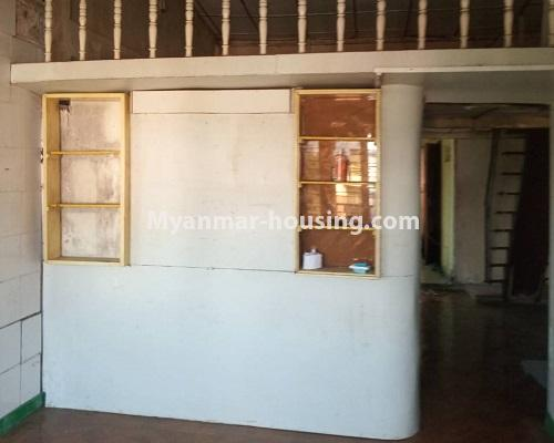Myanmar real estate - for sale property - No.3254 - Ground floor with mezzanine in Bahan! - living room and mezzanine