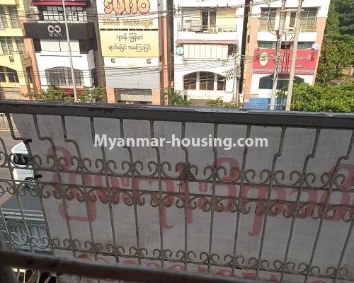 Myanmar real estate - for sale property - No.3254 - Ground floor with mezzanine in Bahan! - balcony