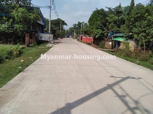 မြန်မာအိမ်ခြံမြေ - ရောင်းမည် property - No.3256 - မင်္ဂလာဒုံတွင် လုံးချင်းရောင်းရန်ရှိသည်။  - road view